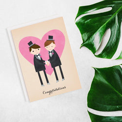 Rosy Designs - Cards - Groom And Groom Just Married