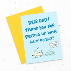 My Cat Is People - Greeting Cards - Dear Dad