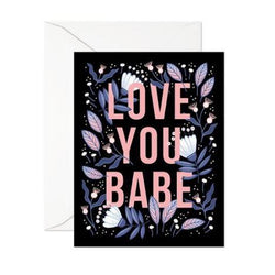 Linden Paper co. cards love you babe