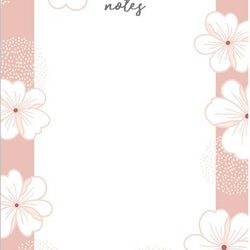 Linden Paper Co. - Notepads – Pink Floral Notes Pad