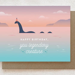 Quirky Paper Co. - Card - Lochness Monster