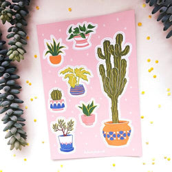 The Funky Fresh - Sticker - House Plant Sticker Sheet