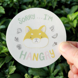 Mint and Woolly - Sticker - Hangry Shiba