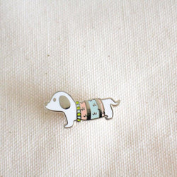 Mint and Woolly - Enamel Pin - White Beagle