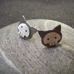 Kate Fehr - Earrings - Cat Skull Stud