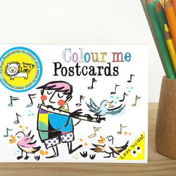 Draw Me A Lion - Colouring Postcard Booklet - Music Themed