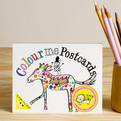 Draw Me a Lion Colouring Postcards Animals - Bird on a Wire Creations