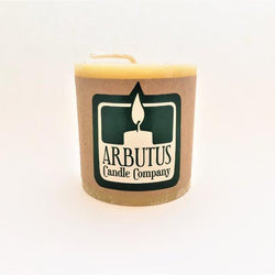 "Arbutus Candle Company - Beewax - 3""x 3"" Round Pillar"