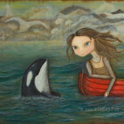A Cagey Bee - Large Art Block - Sarah and the Orca