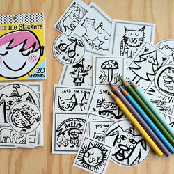 Draw Me A Lion - Colour Me Sticker Pack