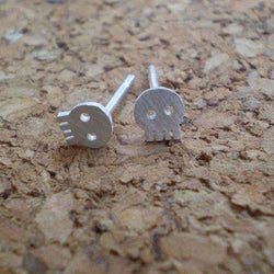 Kate Fehr - Earrings - Mini Skull Stud