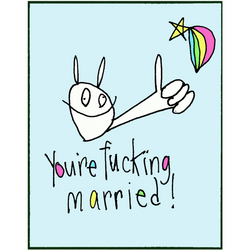 RabbitRabbit - You're F***ing Married! Greeting Cards