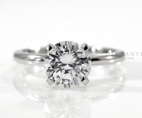 four prong engagement ring solitaire setting