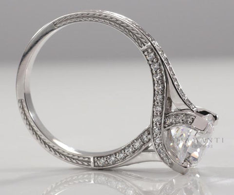 trellis prongs solitaire engagement ring