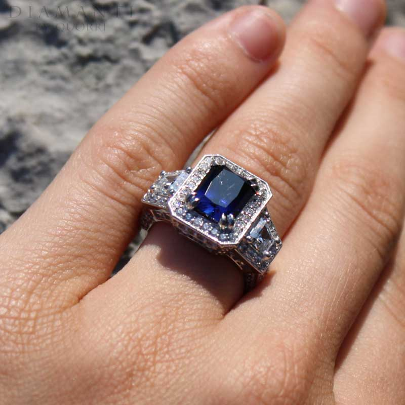 cultured puregem medium blue sapphire gemstones at Quorri Canada