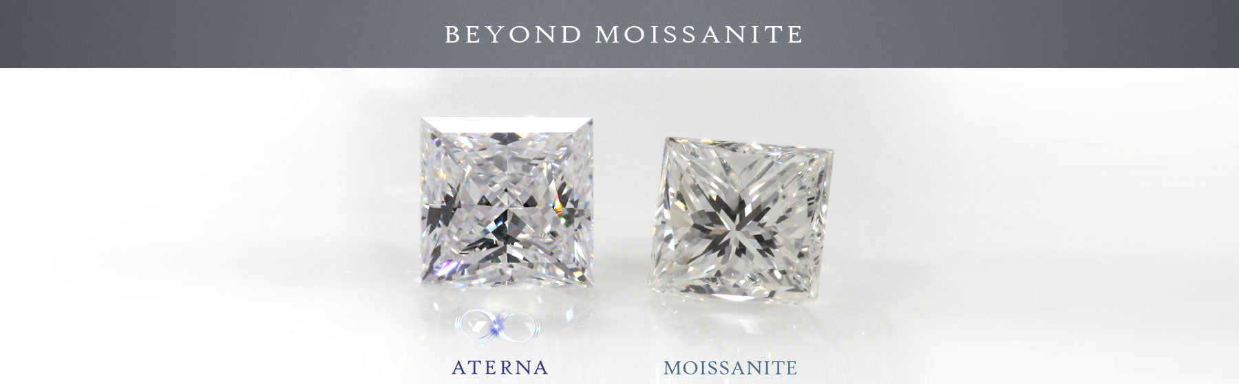 Aterna is beyond moissanite diamond comparison at quorri