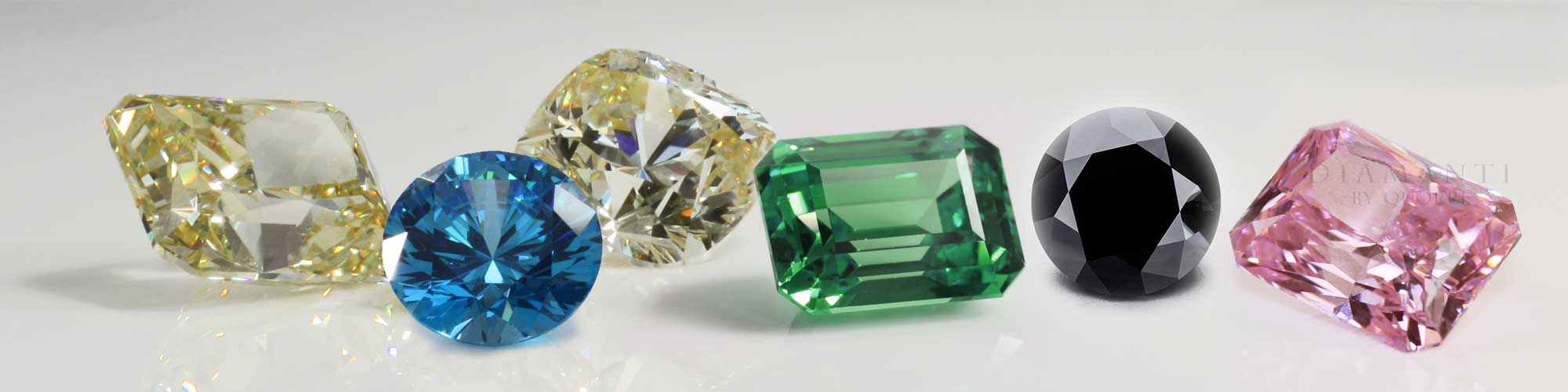 loose created black green yellow blue diamonds moissanite aterna Amora gems Quorri