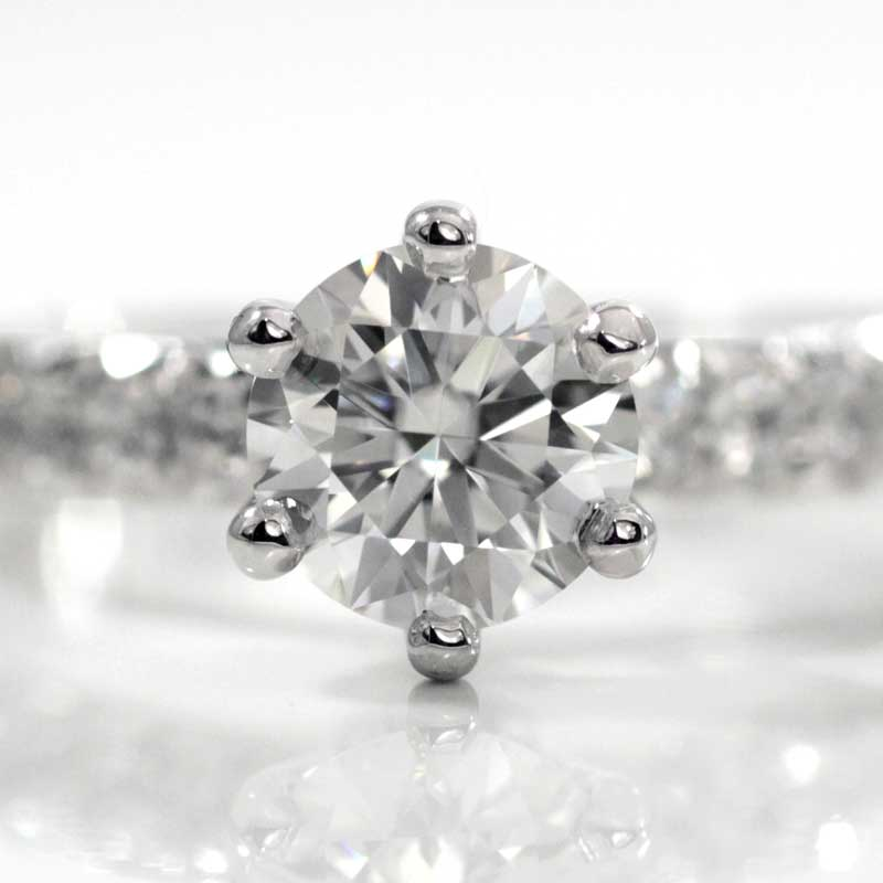 round brilliant lab diamond engagement ring in platinum by quorri