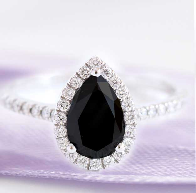 black diamond moissanite aterna engagement rings at quorri canada