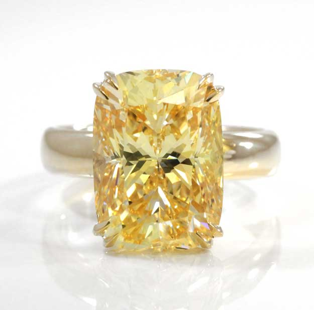 canary yellow aterna moissanite diamonds Quorri canada