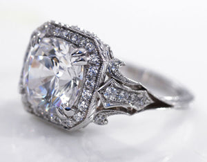 vintage affordable lab diamond engagement rings in Canada
