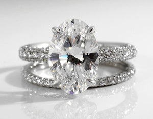 custom affordable man made diamond engagement rings in Canada