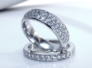 platinum designer lab created diamond wedding bands at Quorri