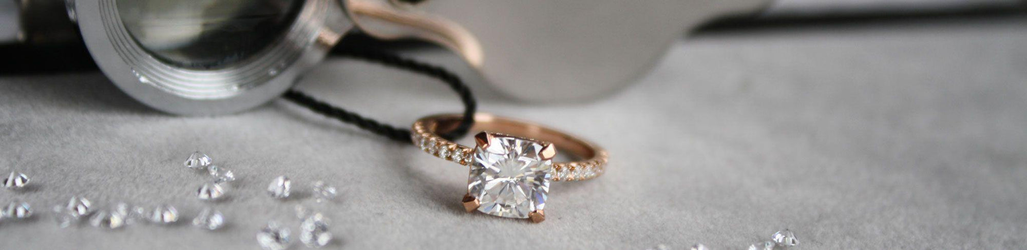 Quorri offers gold affordable man made diamond engagement rings in Canada