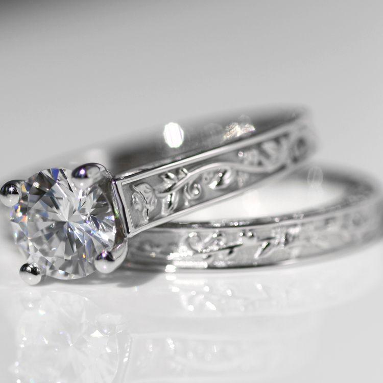 Quorri sells cheap gold affordable man made diamond engagement rings in Canada