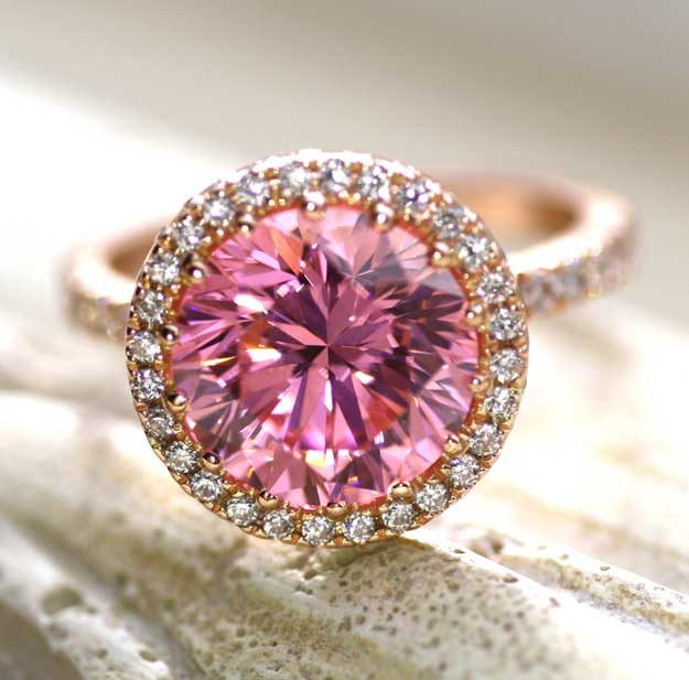 pink Quorri aterna diamonds are better than moissanite Canada