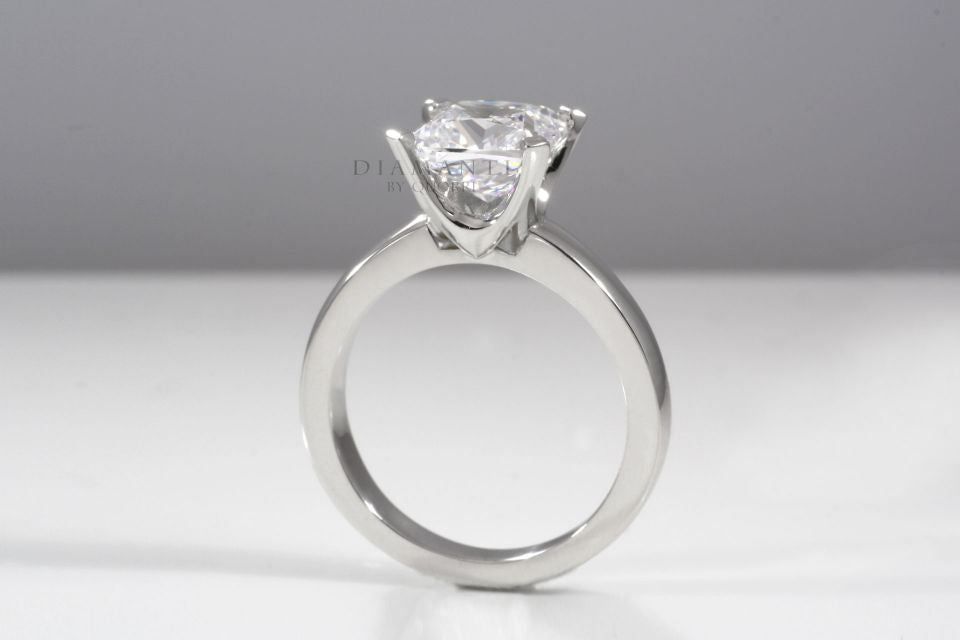 round lab diamond solitaire engagement ring by quorri reviews