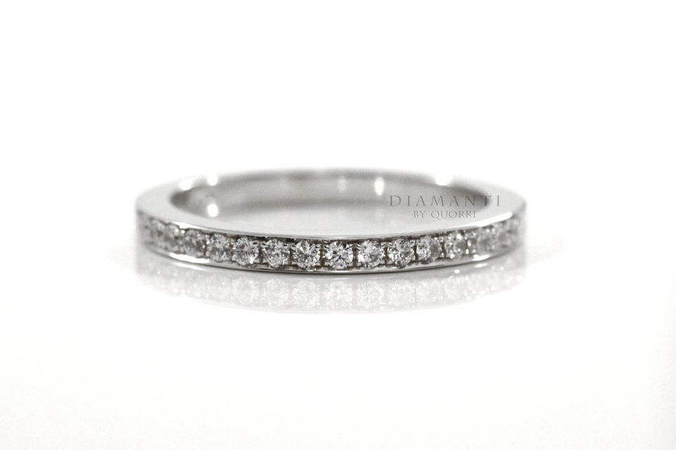 affordable designer gold and diamond platinum wedding bands at Quorri Canada