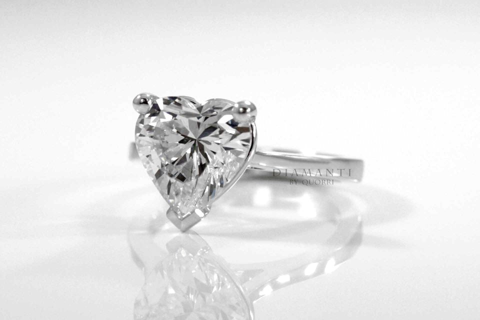heart cut diamond engagement ring by Quorri