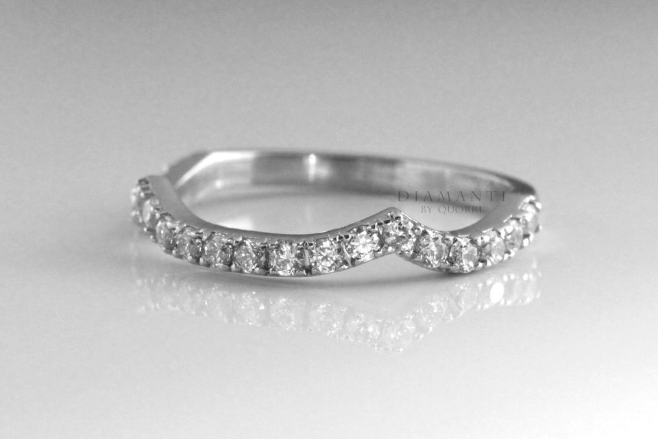 affordable designer platinum and diamond wedding bands at Quorri Canada