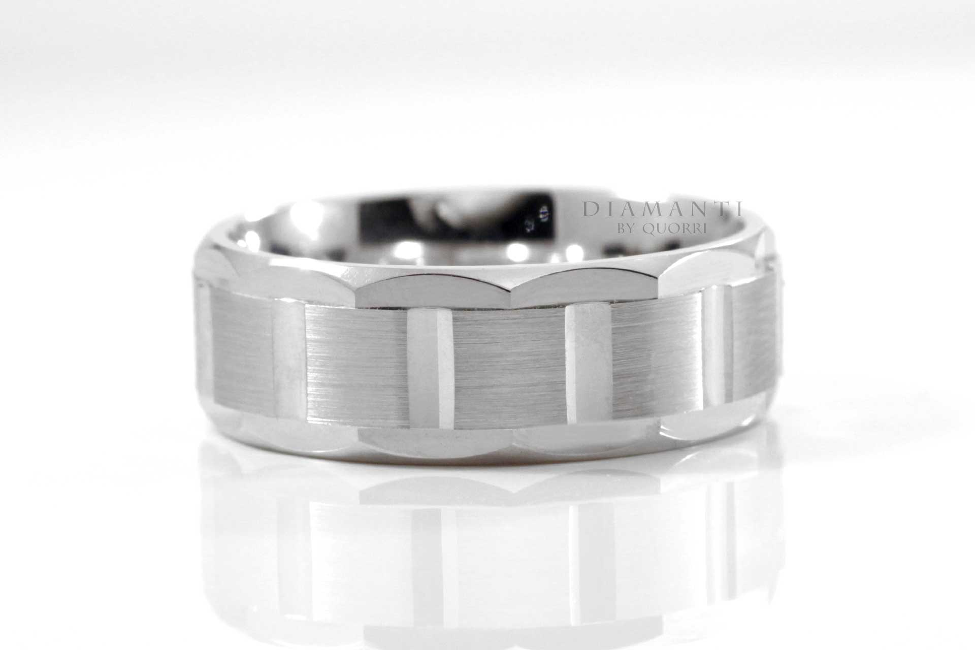 designer gold and platinum mens wedding bands by quorri canada