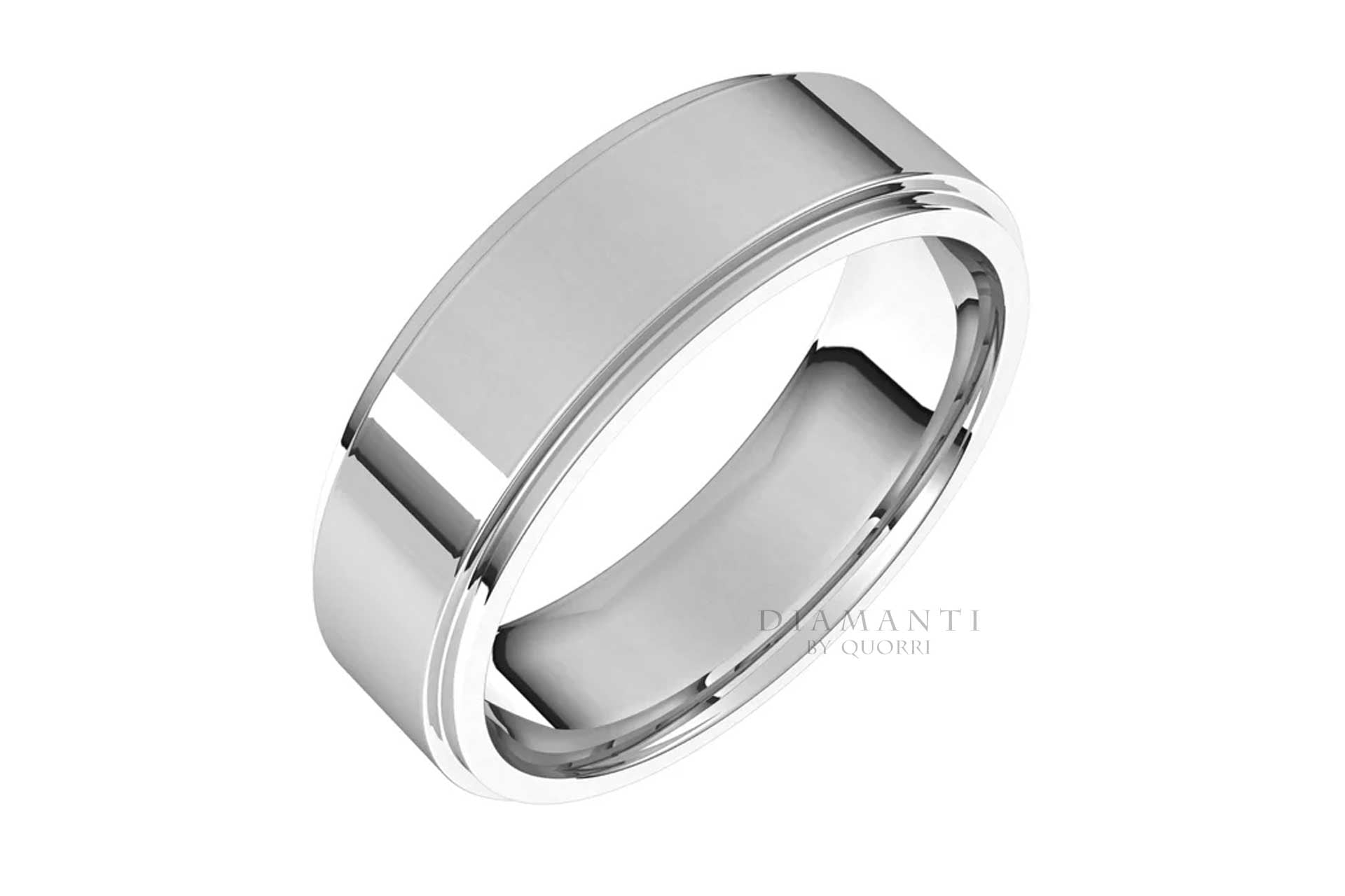 handcrafted mens gold wedding bands at Quorri Canada