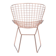 Wire Dining Chair Rose Gold