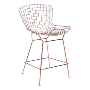 Wire Counter Chair Rose Gold