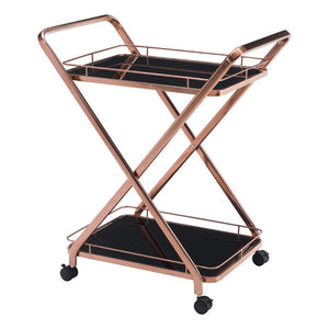 Vesuvius Serving Cart Rose Gold