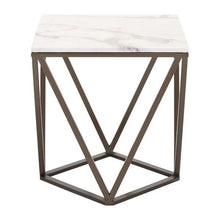 Tintern End Table Stone & A. Brass