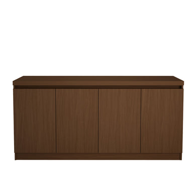 Manhattan Comfort Viennese 62.99 in. 6- Shelf Buffet Cabinet  in Nut Brown