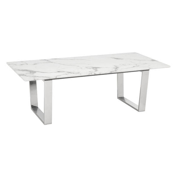 Atlas Coffee Table Stone & Brushed Stainless Steel