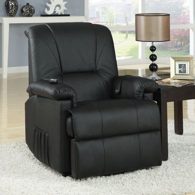 Acme Reseda Recliner with Power Lift & Massage, Black PU