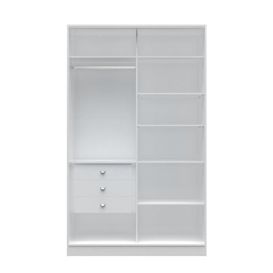 Manhattan Comfort  Chelsea 1.0 - 54.33 inch Wide Full Wardrobe  with 3 Drawers in White
