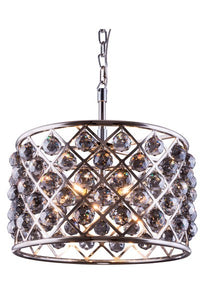 "1206 Madison Collection Pendent lamp D:20"" H:13"" Lt:6 Polished nickel Finish (Royal Cut Silver Shade Crystals)"