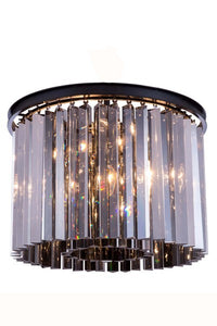 "1208 Sydney Collection Flush Mount D:20"" H:13.5"" Lt:6 Mocha Brown Finish (Royal Cut Silver Shade Crystals)"