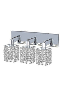 1283 Mini Collection Wall Fixture Oblong Canopy D14.5inx4.5in H13.5in Square Pendant Lt:3 Chrome Finish (Swarovski Spectra Crystals)