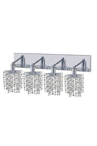 1284 Mini Collection Wall Fixture Oblong Canopy D26inx5in H13.5in Star Pendant Lt:4 Chrome Finish (Elegant Cut Crystals)