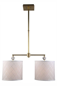 "1445 Gemma Collection Pendant lamp D:12"" H:51"" Lt:2 Burnished Brass Finish"