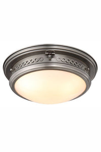 "1447 Mallory Collection Flush mount D:16"" H:6.5"" Lt:3 Vintage Nickel Finish"